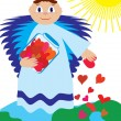 Love angel sow love — Vector de stock #1719451