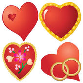 Set of valentine`s hearts, part 10 — Stock Vector