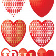 XOXO hearts - Stock Vector