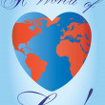 Heart shaped love planet — Stock Vector #1855366