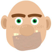 Bald ogre — Stock Vector