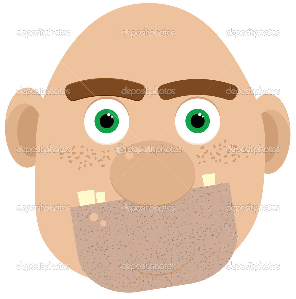 Vector illustration of bald ogre — Stock Vector #1855409