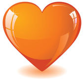 Orange heart — Vector de stock