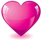 Parlak pembe kalp — Stok Vektör
