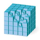 Blue cube — Stock Vector