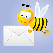 Bee mail — Stock Vector