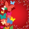 Royalty-Free Stock Vector Image: Red butterflies