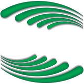 Green wave — Stock Vector
