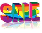 Multicolored Sale — Stock Vector