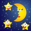 Moon and stars — Stock Vector