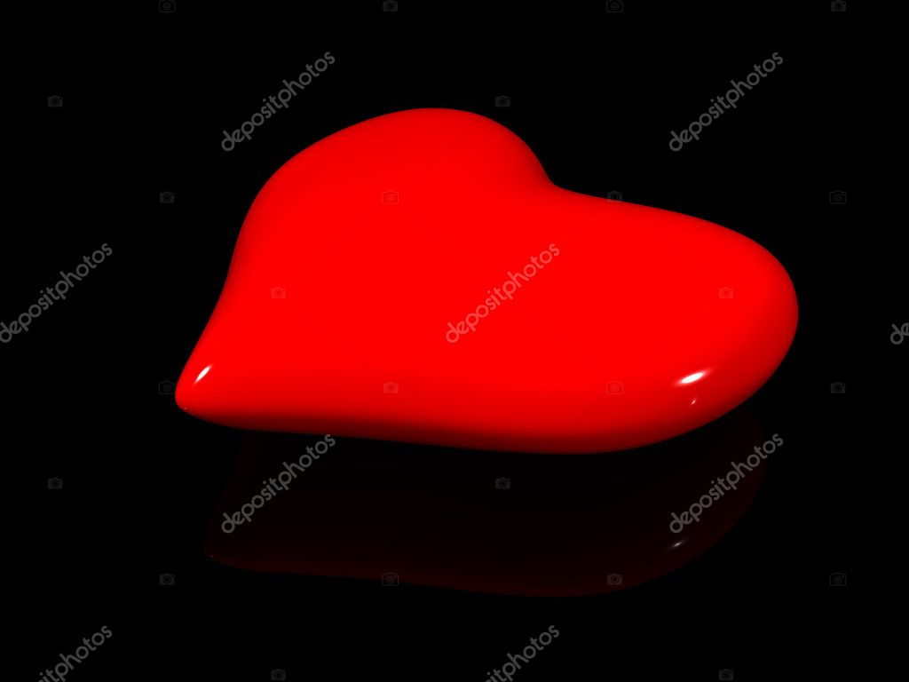 Red heart. 3d holiday valentine — Stock Photo #1038528