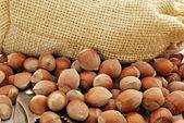 Heap of hazelnuts — Stock Photo