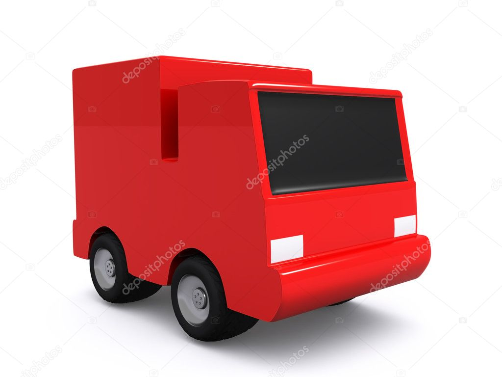 Single red car. 3D — Stock Photo #1059257