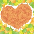 Stock Vector: Heart leaf
