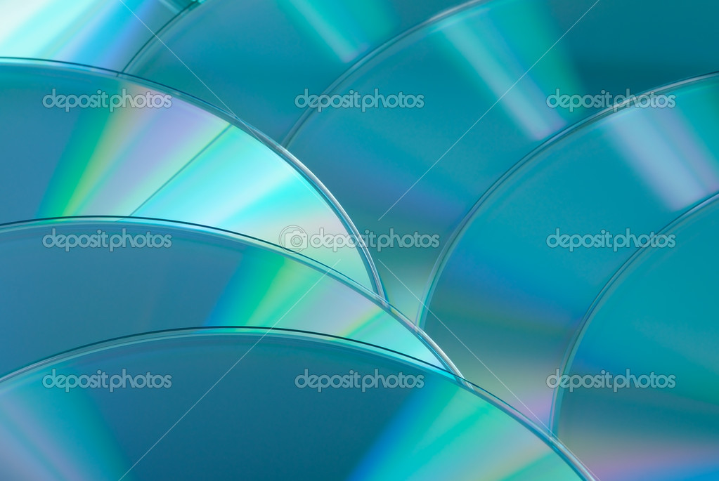 Cd dvd blu-ray disk abstract. Closeup — Stock Photo #2567840
