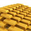 Bar of gold — Stock Photo