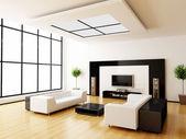 современный интерьер комнаты — Стоковое фото