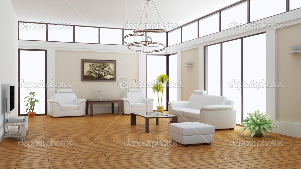 Modern interior of a room (3d rendering) — Stock Photo #1036415