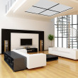 Foto Stock: Modern interior of a room