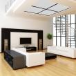 现代室内装饰的房间 — 图库照片