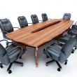 Stock Photo: Furniture for conference of halls