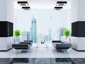 Interior moderno de um corredor — Foto Stock