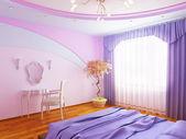 Interior moderno de un dormitorio — Foto de Stock