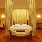 Classical sleeping room — Foto de Stock