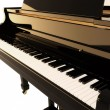 The black piano - Stock Photo