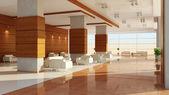 Diseño moderno de un interior de una sala — Foto de Stock