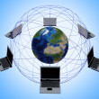 Stock Photo: Global Computer Network
