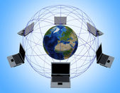 Global Computer Network — Foto de Stock