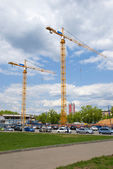 Two cranes — Stock Photo