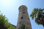 Palma and bell tower in Ravenna. Italy — Stock Photo