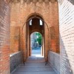 Bascule bridge in the castle of Ferrara — Stock Photo #1224819