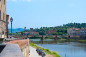 Florence, the Arno River. — Stock Photo