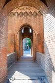 Bascule bridge in the castle of Ferrara — Stock Photo
