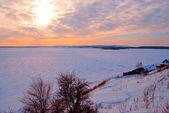 Sunset at Volga — Stock Photo