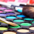 Professional make-up brush on palette - Stock Photo