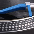 Closed-up turntable with blue needle — Stock Photo #1039064