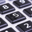 Button on calculator - Stock Photo