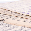 Music notes on old pieces of paper — Stock Photo #1058059