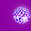 Mirrorball on violet — Stock Photo