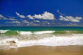 Onda no oceano atlântico — Fotografia Stock