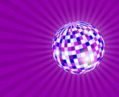 Boule à facettes sur violet — Photo