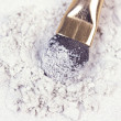 White eyeshadows with applicator — Stock Photo #1110881