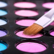 Pink eyeshadows with  brush - Stock Photo