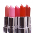 Stock Photo: Five lipsticks isolated