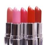 Five lipsticks isolated — Stock Photo