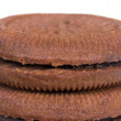 Top of stack of cookies — Stock Photo